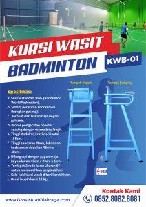 kursi wasit badminton kwb 01