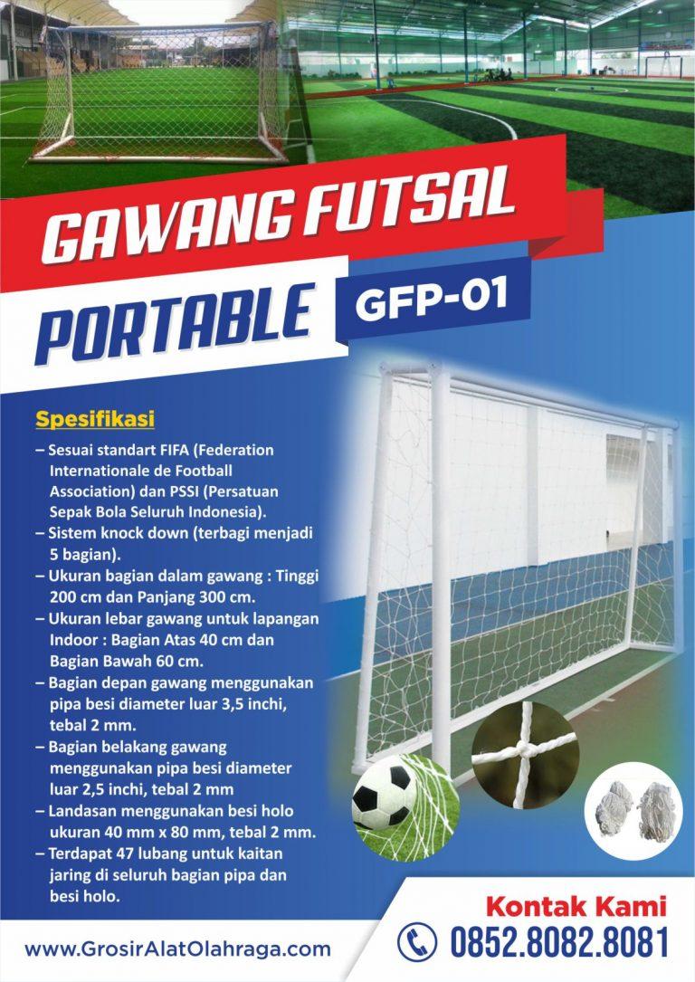 gawang futsal portable gfp-01
